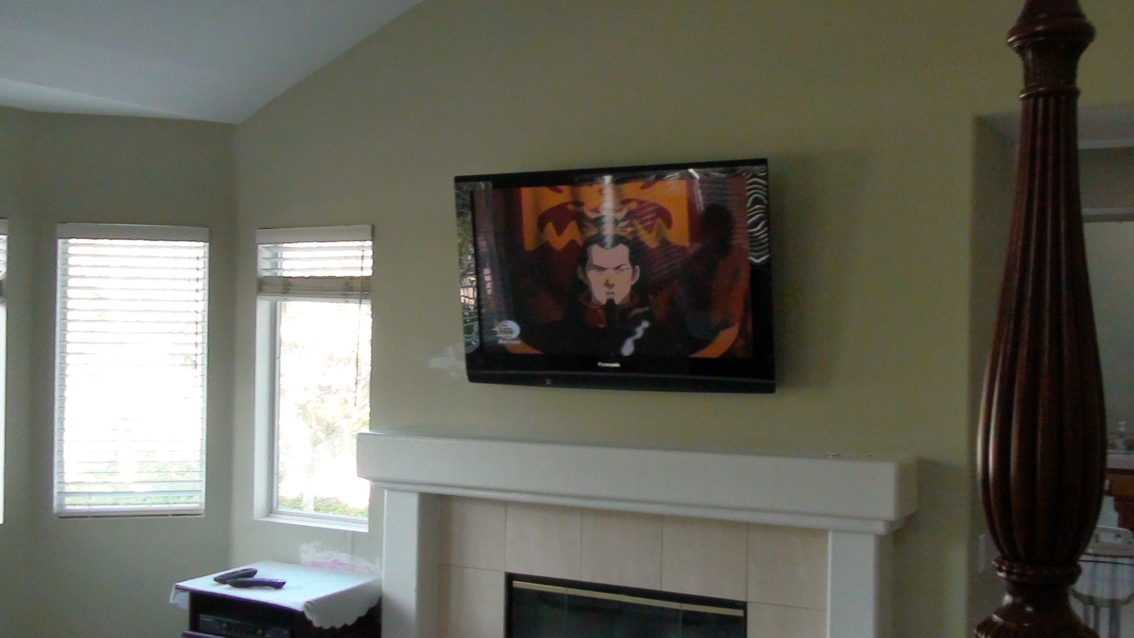 LCD Above Fireplace