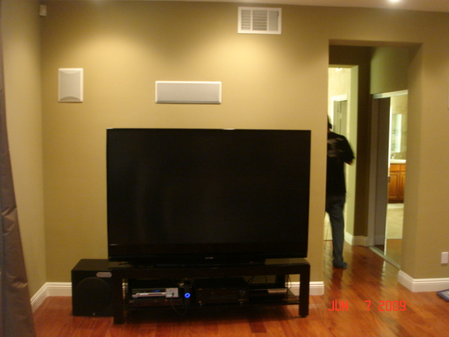 Table Top Rear Projection TV Install
