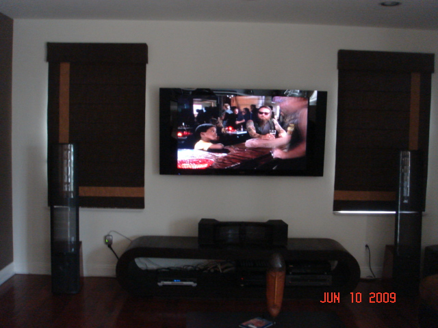 Mount Flat Panel in Living Room, Install Flat Panel