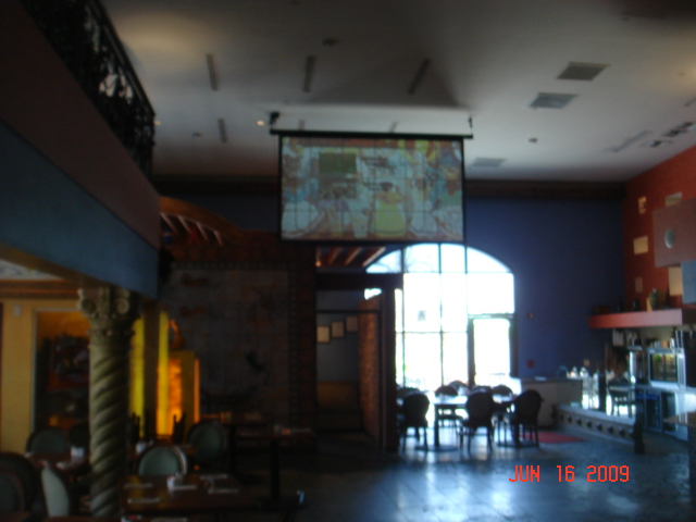 Restaurant Projector Installation