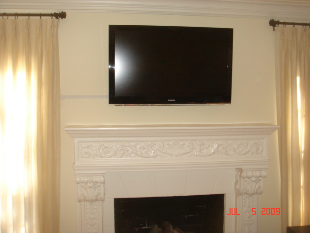 Flat Panel Above FirePlace